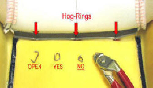 Using Hog Rings